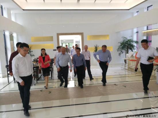 四川省委组织部领导对一名微晶开展调研工作