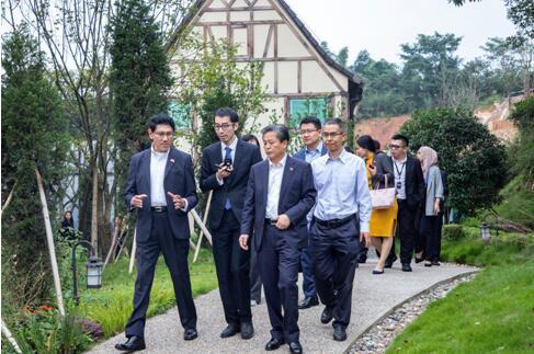 东盟十国驻华使节调研中法农业科技园 共话国际开放合作